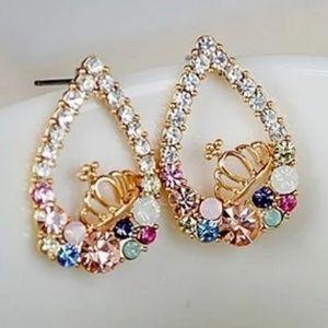 🎀Stunning Crystal Crown Earings